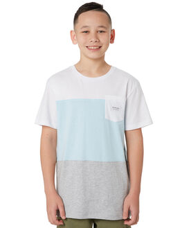 WHITE KIDS BOYS RIP CURL TOPS - KTETP21000