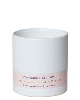ROSE CEDARWOOD WOMENS ACCESSORIES THE CANDLE LIBRARY HOME + BODY - 3BBCL01PNK