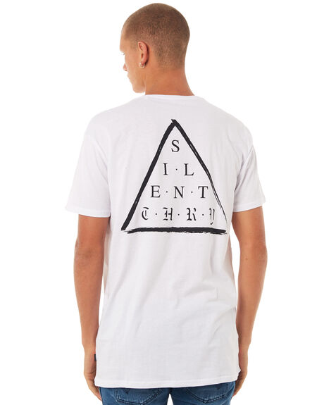 WHITE OUTLET MENS SILENT THEORY TEES - 4001014WHT