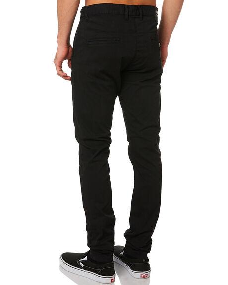 BLACK MENS CLOTHING DR DENIM PANTS - 1310101-101