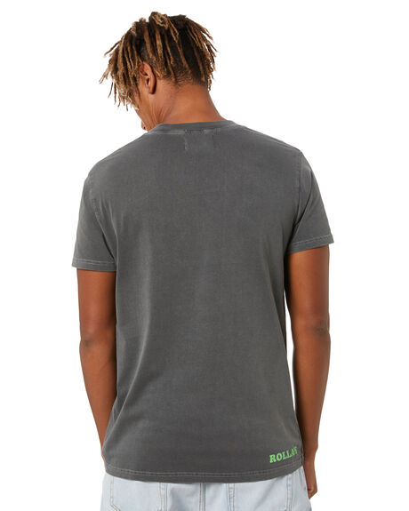 WASHED BLACK MENS CLOTHING ROLLAS TEES - 16337056