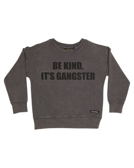WASHED GREY KIDS TODDLER BOYS ROCK YOUR BABY JUMPERS - TBH183-BKWSHG