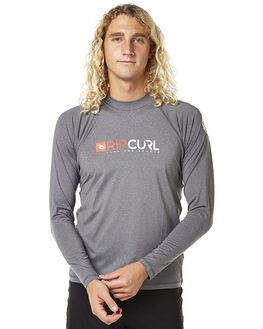 DARK GREY MARLE SURF RASHVESTS RIP CURL MENS - WLY4MM8538