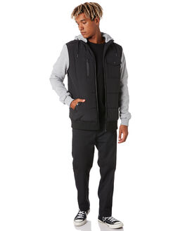 BLACK MENS CLOTHING ST GOLIATH JACKETS - 4351002BLK