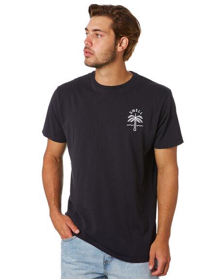 BLACK MENS CLOTHING SWELL TEES - S5202006BLACK