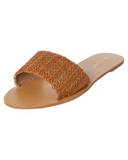 TAN RAFFIA WOMENS FOOTWEAR BILLINI FLATS - S602TANRA