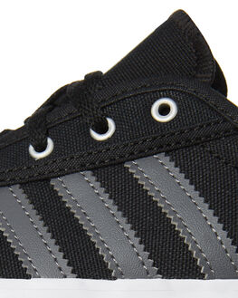 BLACK GREY KIDS BOYS ADIDAS SKATE SHOES - B27802BLK