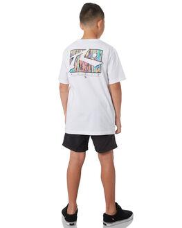 WHITE KIDS BOYS RUSTY TEES - TTB0600WHT