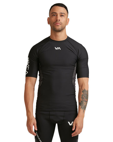 BLACK MENS CLOTHING RVCA TEES - RV-R307048-BLK