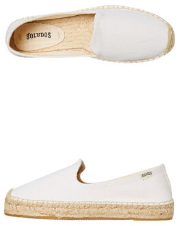 WHITE WOMENS FOOTWEAR SOLUDOS FLATS - 1000318-100WHITE
