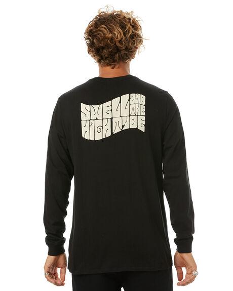 BLACK MENS CLOTHING SWELL TEES - S5171103BLACK