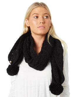 BLACK WOMENS ACCESSORIES RUSTY SCARVES + GLOVES - MAL0388BLK