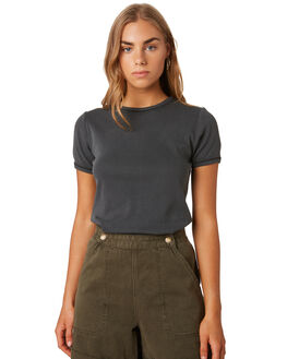MERCH BLACK WOMENS CLOTHING THRILLS TEES - WTS9-104MBBLK