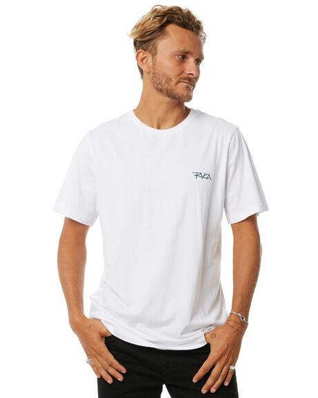 WHITE MENS CLOTHING RVCA TEES - R172049WHT