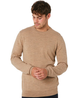 TAN MENS CLOTHING ACADEMY BRAND KNITS + CARDIGANS - 19W440TAN