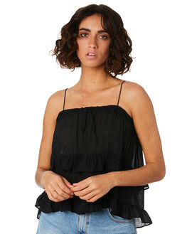 BLACK WOMENS CLOTHING MINKPINK FASHION TOPS - MP1904005BLK