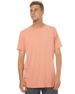 BURNT CORAL MENS CLOTHING QUIKSILVER TEES - EQYKT03645MHP0