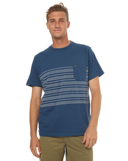 SMOKEY BLUE MARLE MENS CLOTHING VOLCOM TEES - A0141702SMB