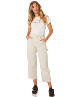 DIRTY WHITE WOMENS CLOTHING THRILLS JEANS - WTDP-418ADIRW