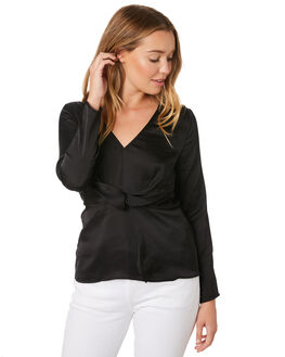 BLACK WOMENS CLOTHING SASS FASHION TOPS - 13715TWSSBLK