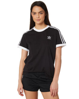 BLACK WOMENS CLOTHING ADIDAS TEES - CY4751BLK