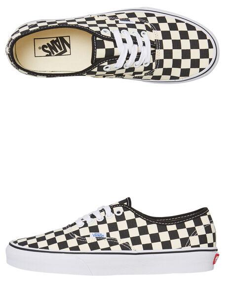 BLACK WHITE WOMENS FOOTWEAR VANS SNEAKERS - SSVN-0W4NDI0BKWHW