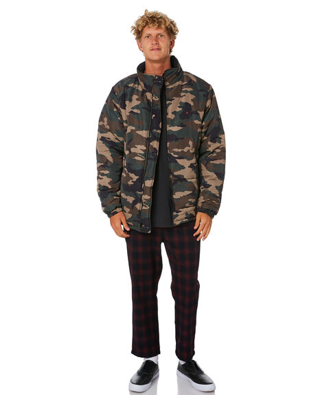 BLACK CAMO MENS CLOTHING STUSSY JACKETS - ST006508BLKCM