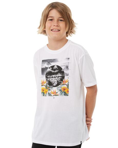 WHITE KIDS BOYS HURLEY TEES - ABAH7924100