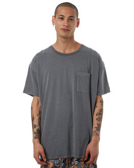 PIGMENT GREY OUTLET MENS ZANEROBE TEES - 123-TDKPGRY