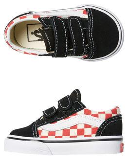BLACK RED KIDS TODDLER BOYS VANS FOOTWEAR - VNA344K35UBKRD