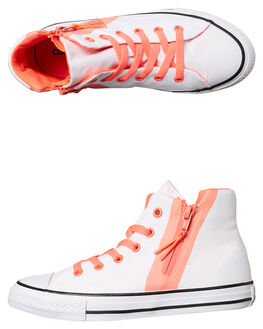 WHITE BLUSH HOTPUNCH KIDS GIRLS CONVERSE SNEAKERS - 658056WSH