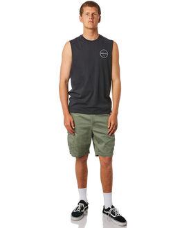 VINTAGE BLACK MENS CLOTHING ELEMENT SINGLETS - 184271VNBLK