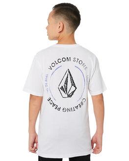 WHITE KIDS BOYS VOLCOM TOPS - C5011971WHT