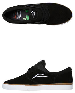 BLACK SUEDE MENS FOOTWEAR LAKAI SKATE SHOES - MS2190244A00BLK