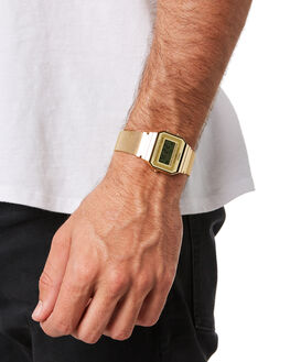 GOLD MESH MENS ACCESSORIES CASIO WATCHES - A700WMG-9AGLD