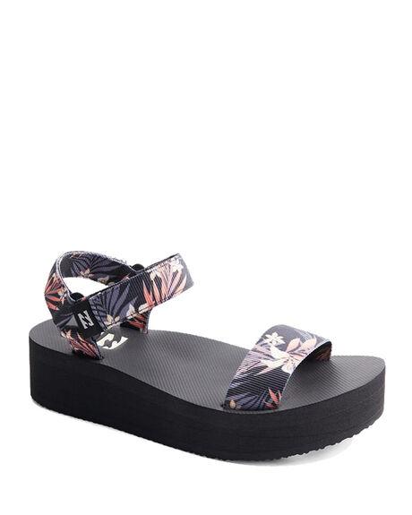 BLACK/MULTI WOMENS FOOTWEAR BILLABONG FASHION SANDALS - 6613811-BKU