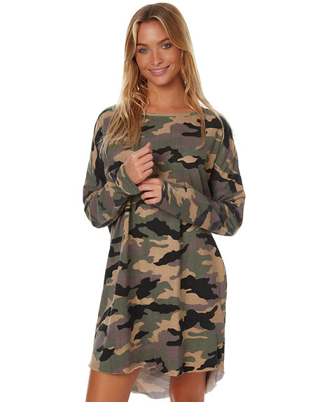 CAMOUFLAGE WOMENS CLOTHING RUSTY DRESSES - DRL0834CMF