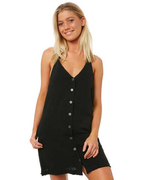 BLACK WOMENS CLOTHING RVCA DRESSES - R282758BLK