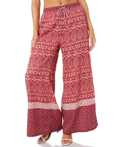 BURGUNDY WOMENS CLOTHING TIGERLILY PANTS - T305384BUR