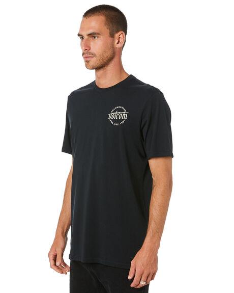 BLACK MENS CLOTHING VOLCOM TEES - A5002013BLK