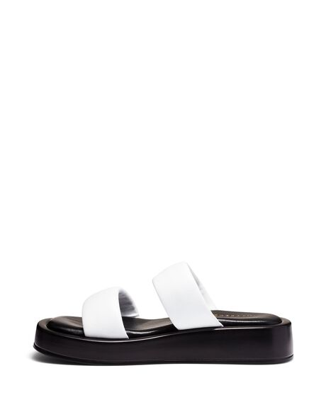 WHITE WOMENS FOOTWEAR JUST BECAUSE FASHION SANDALS - SOLE-JB1427WHT
