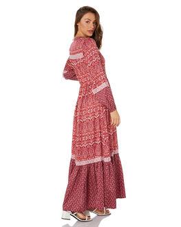 BURGUNDY WOMENS CLOTHING TIGERLILY DRESSES - T305453BUR