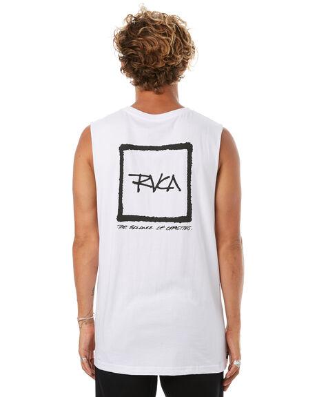 WHITE MENS CLOTHING RVCA SINGLETS - R172006WHT