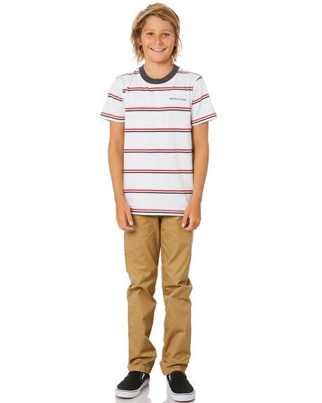 WHITE KIDS BOYS DC SHOES TOPS - EDBKT03128-WBB0