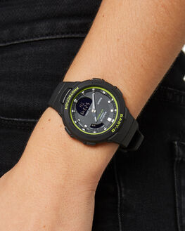 BLACK GREEN WOMENS ACCESSORIES BABY G WATCHES - BSA-B100SC-1ADRBLKGR