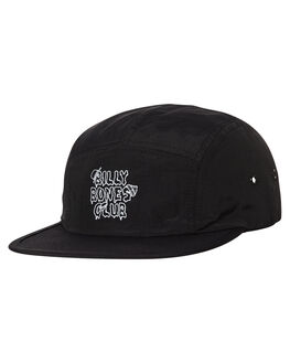 BLACK MENS ACCESSORIES BILLY BONES CLUB HEADWEAR - BBCHAT011BLK