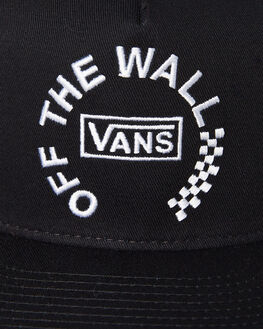 BLACK MENS ACCESSORIES VANS HEADWEAR - VNA3I1BBLKBLK