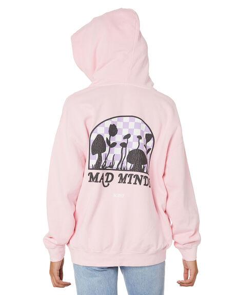 ICE PINK WOMENS CLOTHING MISFIT HOODIES + SWEATS - MT116201ICPK
