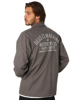 PLUM GREY MENS CLOTHING DEUS EX MACHINA JACKETS - DMP96778BPLMGY