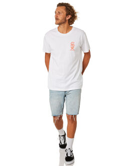 WHITE MENS CLOTHING THE LOBSTER SHANTY TEES - LBSLUAUWHT